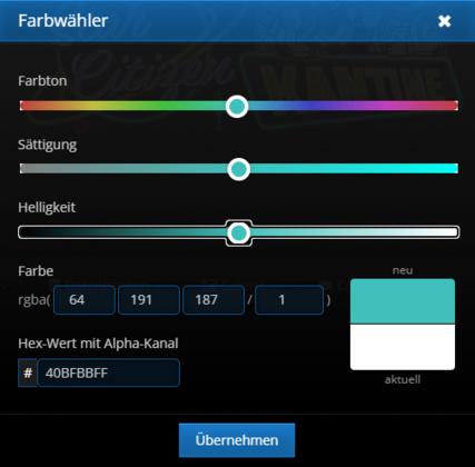 Organisations-TAG - Farbe auswählen